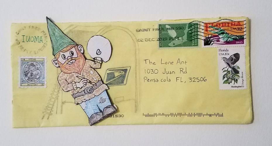 Gnome found in mail box.