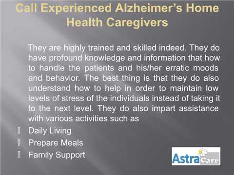 Alzheimer's Home Healthcare in Boca Raton with Astra Care
