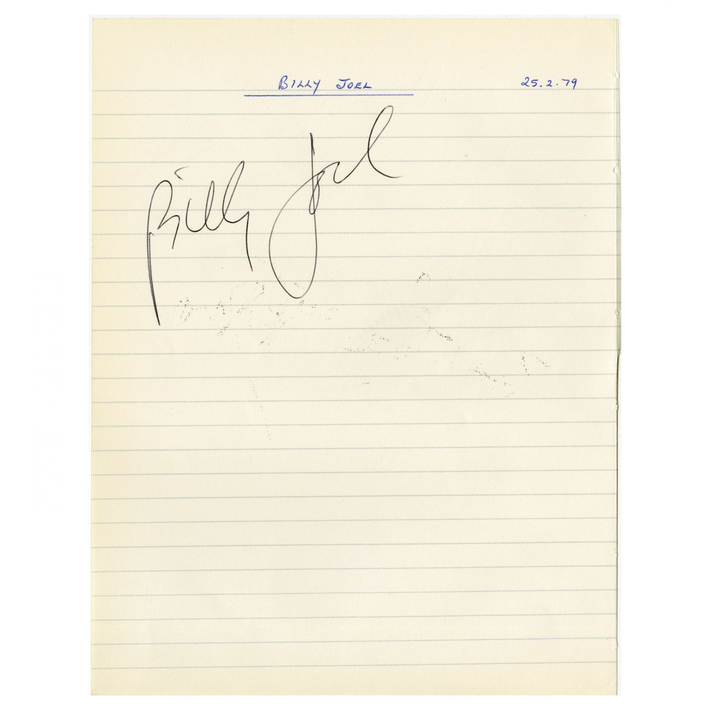 Billy Joel signed 1979 page