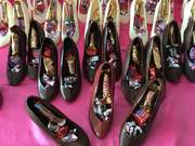Chocolate High Belle shoes filled with candy for Valentine's Day
