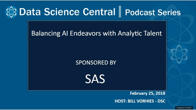 DSC Podcast Series: Balancing AI Endeavors with Analytic Talent