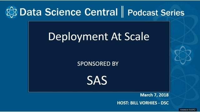 DSC Podcast Series: Deployment at Scale