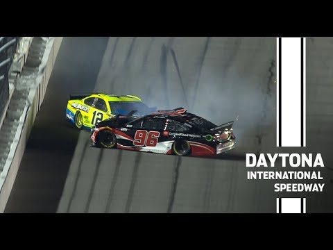 Suarez's Daytona 500 hopes dashed after Duel crash | NASCAR at Daytona International Speedway