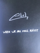 Billie Eilish Signed When We All Fall Asleep Book.