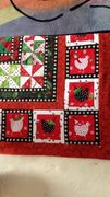 "fussy cut chicken border on  ""Fox in the Christmas Hen House"""