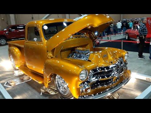 Robert's Custom 01954 Chevy Pickup Liquid Gold At the 2020 Motorama, Harrisburg