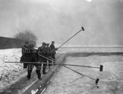 Breaking the Ice on Hornsey Reservoir, January 1926