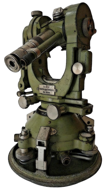 Pictured Here is a Wild Theodolite