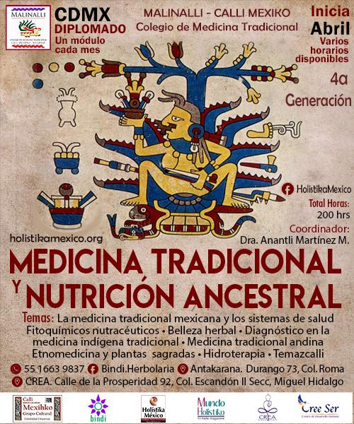 Invitación al Diplomado en Medicina Tradicional y Nutrición Ancestral 2020