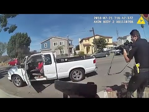 Bodycam Footage of Anaheim Officers Shooting Suspect in California