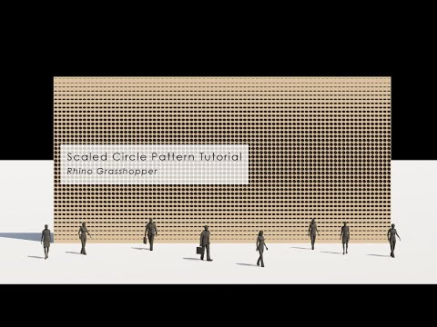 Scaled 1 Dimension Circle Pattern Facade in Rhino_Grasshopper