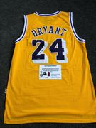 Likely Not Genuine: KOBE BRYANT HAND SIGNED AUTOGRAPHED LA LAKERS YELLOW JERSEY 24 WITH COA $910