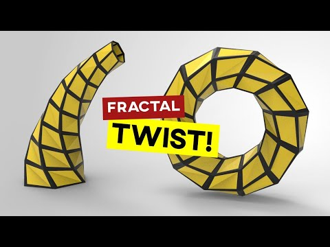 Twisting Fractal (Rhino Grasshopper)