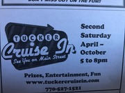 TUCKER MONTHLY CRUISE IN NOTE : TIME CHANGE - 11AM - 2PM