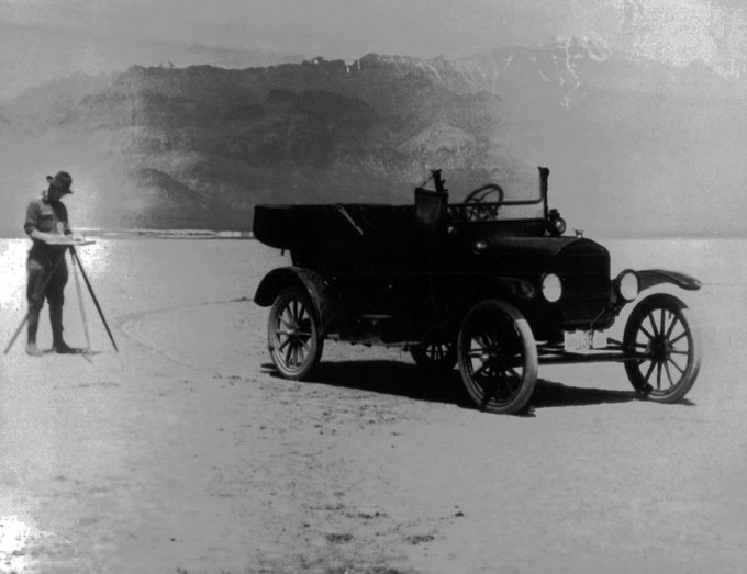 Plane Table and Convertible Early Model  Survey Truck