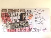 First Mail Art Ever Received. Sent by Richard Baudet