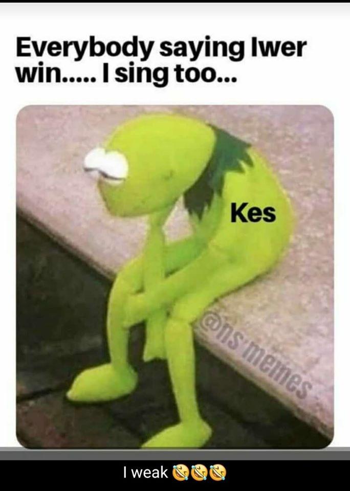 Everybody saying Iwer win.... I sing too...
