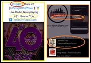 Top 40...Trend City Radio  This Week...Moving Up 9 Spots #21 On The Charts!!  Corey p.k.a Magnificent