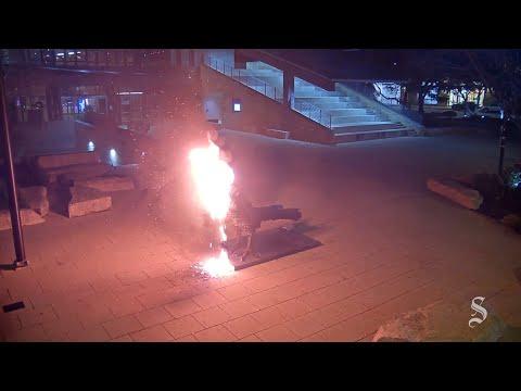 Based Grandpa Sets Fire to Laughable Progressive Art at Austin City Hall
