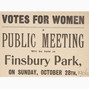 Heritage Talk: Finsbury Park & the Suffragettes
