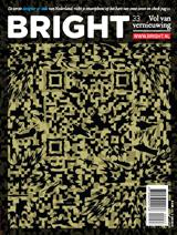 Bright magazine over designer qr-barcodes