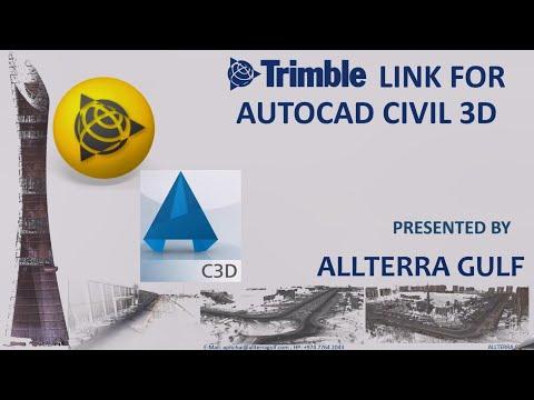#TRIMBLE #LINK AND #AUTOCAD #Civil3D