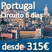 Circuito Portugal 6 dias desde 315€ en Pensión Completa Septiembre 2012