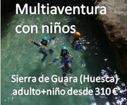 Multiaventura con hijos en Sierra de Guara (Huesca)