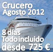 Crucero Mediterraneo Agosto 2012