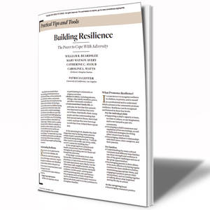 Image showing the first page of the Building Resilience guide