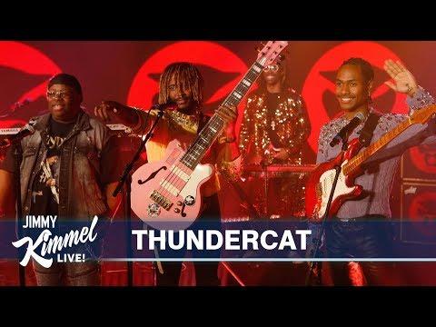 "Watch Thundercat, Flying Lotus, Steve Lacy And Steve Arrington Perform ""Black Qualls"" On 'Kimmel'"