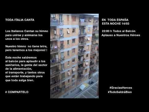 Esta noche #TodosAlBalcón. Aplaudiremos a nuestros HEROES de Hospitales, Supermercados,Transporte..