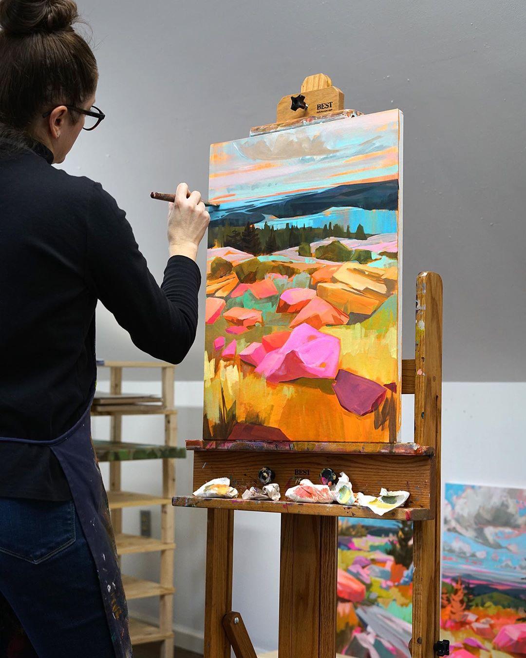 ხელოვნება, ფერწერა, არტი, ქვები, ოთხკუთხედი ხელოვნება, ბუნება, qwelly, blog, art