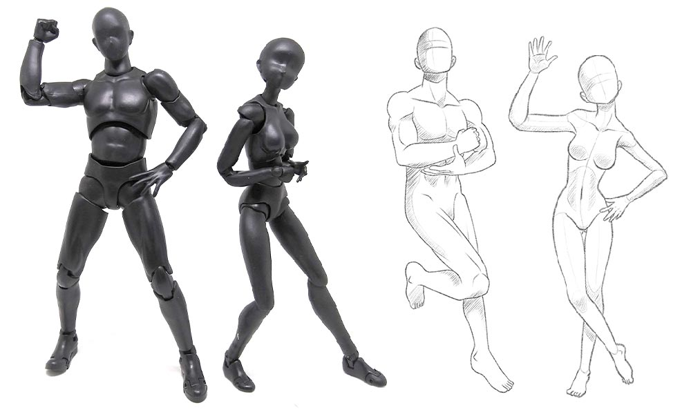 The Benefit of Posing Anime Figurine Models for Artist Reference