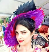 Feather saucer hat - more than 500 handcut feathers
