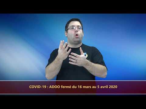 COVID-19 - ADOO FERMÉ