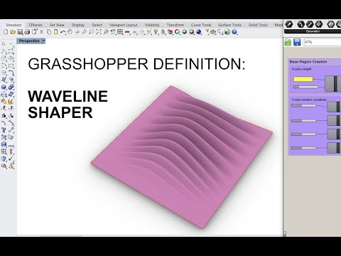 Free Grasshopper Definition: Waveline Shaper