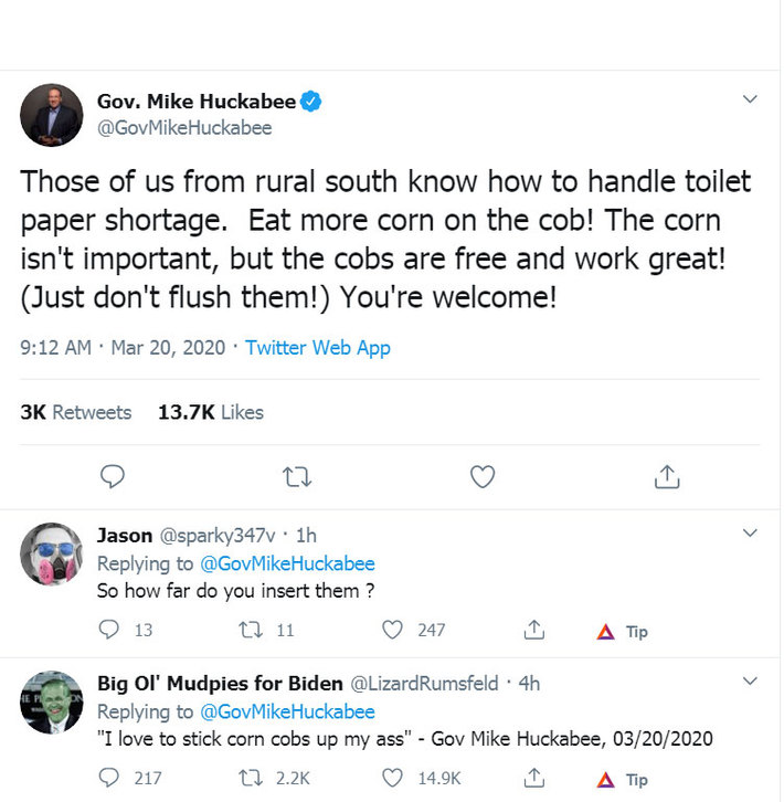 Mike-Huckabee Toilet Paper