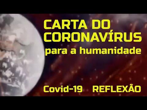 CARTA DO CORONAVÍRUS PARA A HUMANIDADE