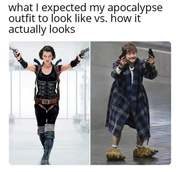 My apocalypse clothing was not planned in a timely manner