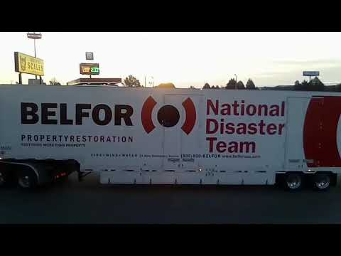 Natural Disaster Teams Hauling Mass Generators In East Tennessee