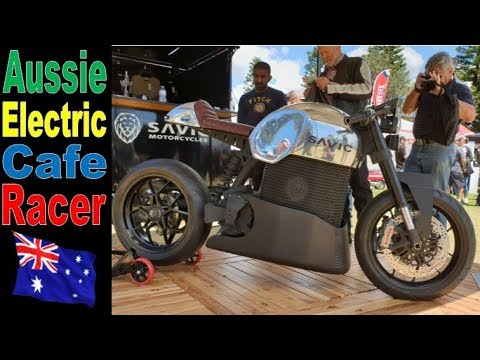 2020 Savic Electric Motorcycle Cafe Racer - UNVEILED - Australian Motorcycle Festival