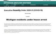 Whitmer - Executive Order 2020-21 (COVID-19)b HOUSE ARREST