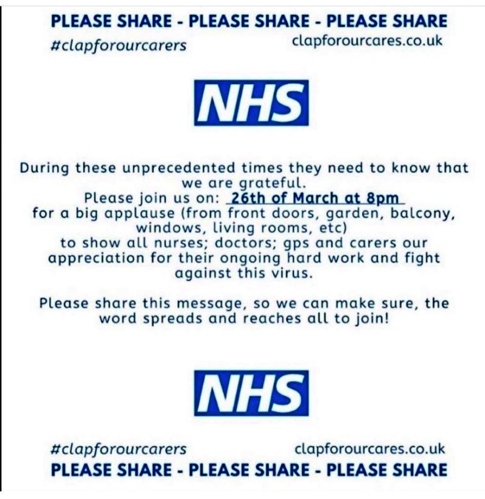 NHS appreciation