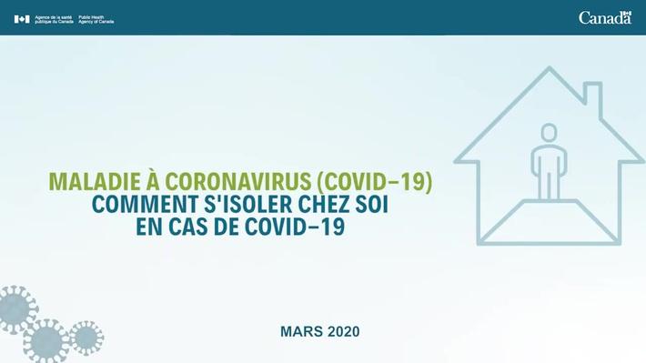 Comment s'isoler chez soi en cas de COVID-19 ? en LSQ