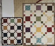 Doll quilt and miniature doll quilt