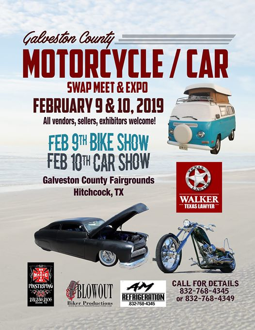 Galveston County Motorcycle & Car Swap Meet, & Expo