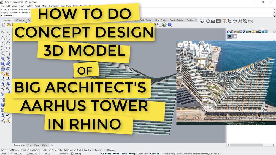 How to do CONCEPT DESIGN (FULL 5mins) -Beginner Rhino Tutorial
