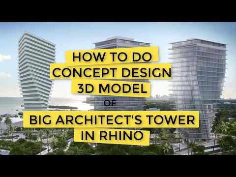 How to do CONCEPT DESIGN -BIG's Twisted Tower in Rhino - 6 minutes (Beginner Rhino Tutorial)