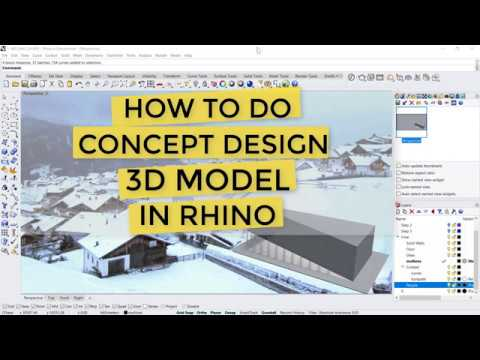 How to do CONCEPT DESIGN 3D Modelling in Rhino (Part 1 of 3); Beginner Rhino Tutorial